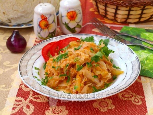 Капуста тушеная с кабачками рецепт с пошагово
