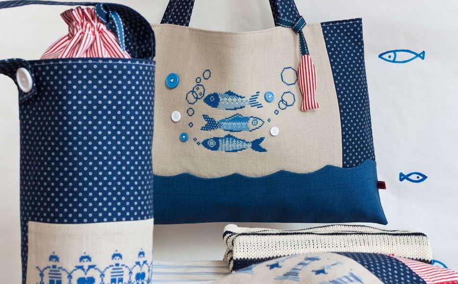 Оригинальная пляжная сумка своими руками 15