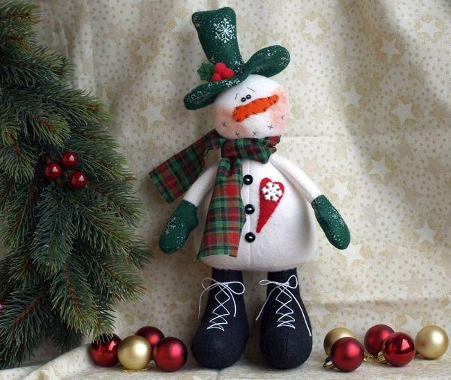 Новогодний снеговик - это известный всем персонаж детский мультфильмов. Сделанный снеговик своими руками станет отличным украшен