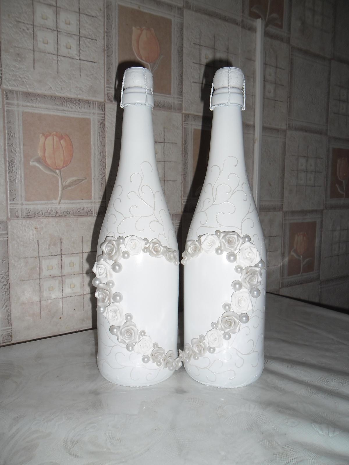 Украшать бутылки шампанского своими руками Украшаем бутылку