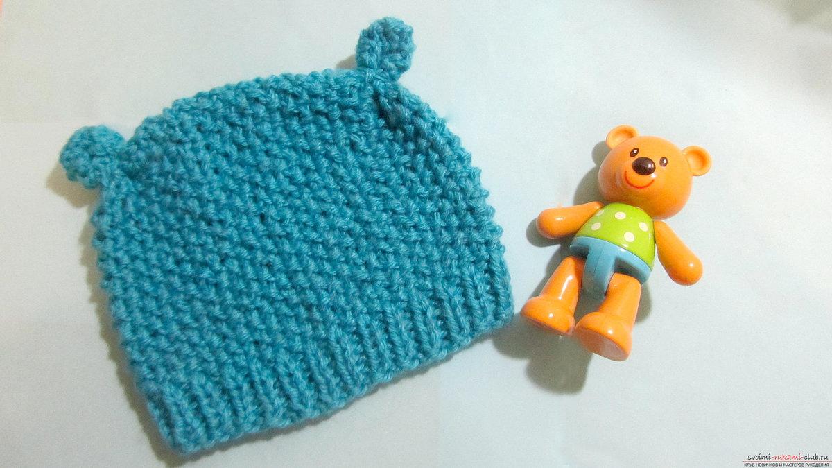 Вязание детских шапочек с ушками для новорожденных