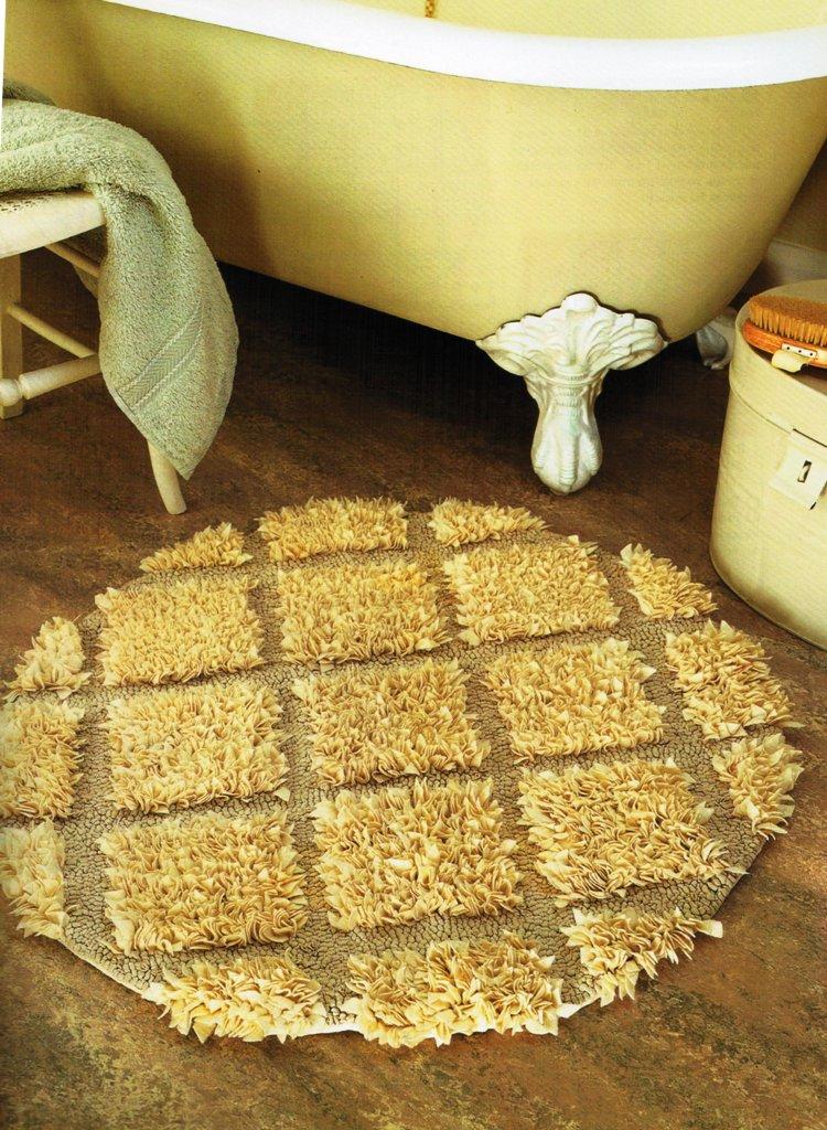 Как сделать коврик из ткани