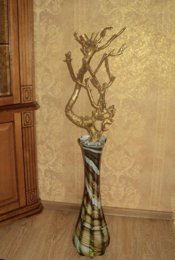 Декор своими руками в напольные вазы
