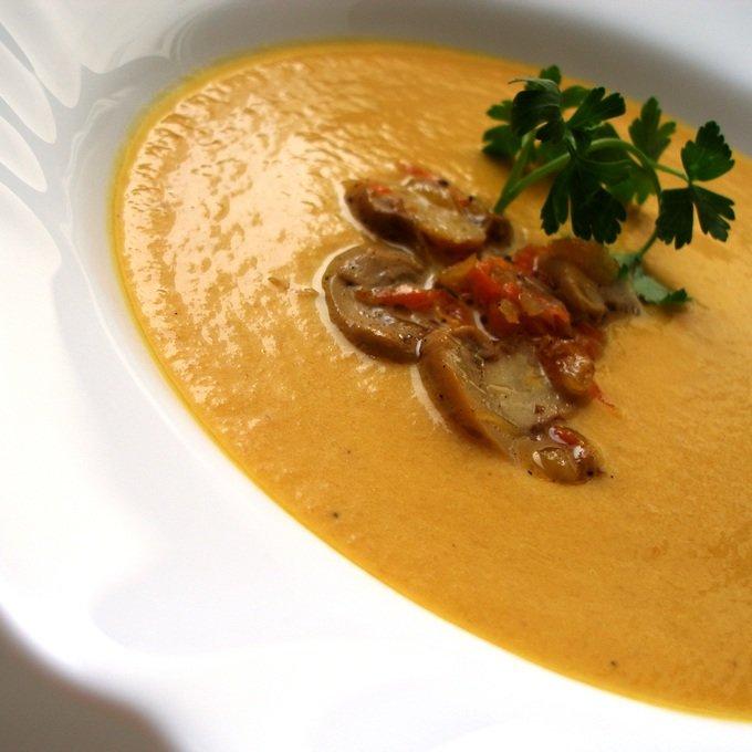 Тыквенный суп пюре с грибами рецепт 174