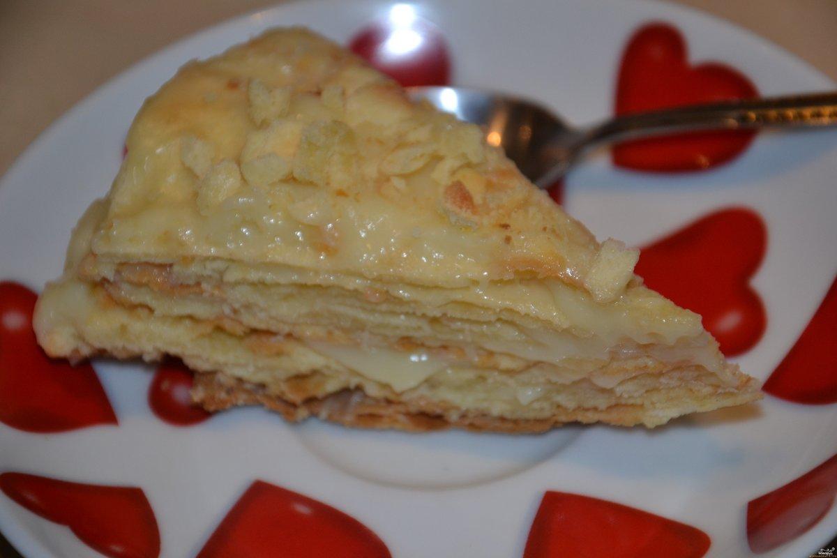 Рецепты торта наполеон из готового слоеного теста пошагово
