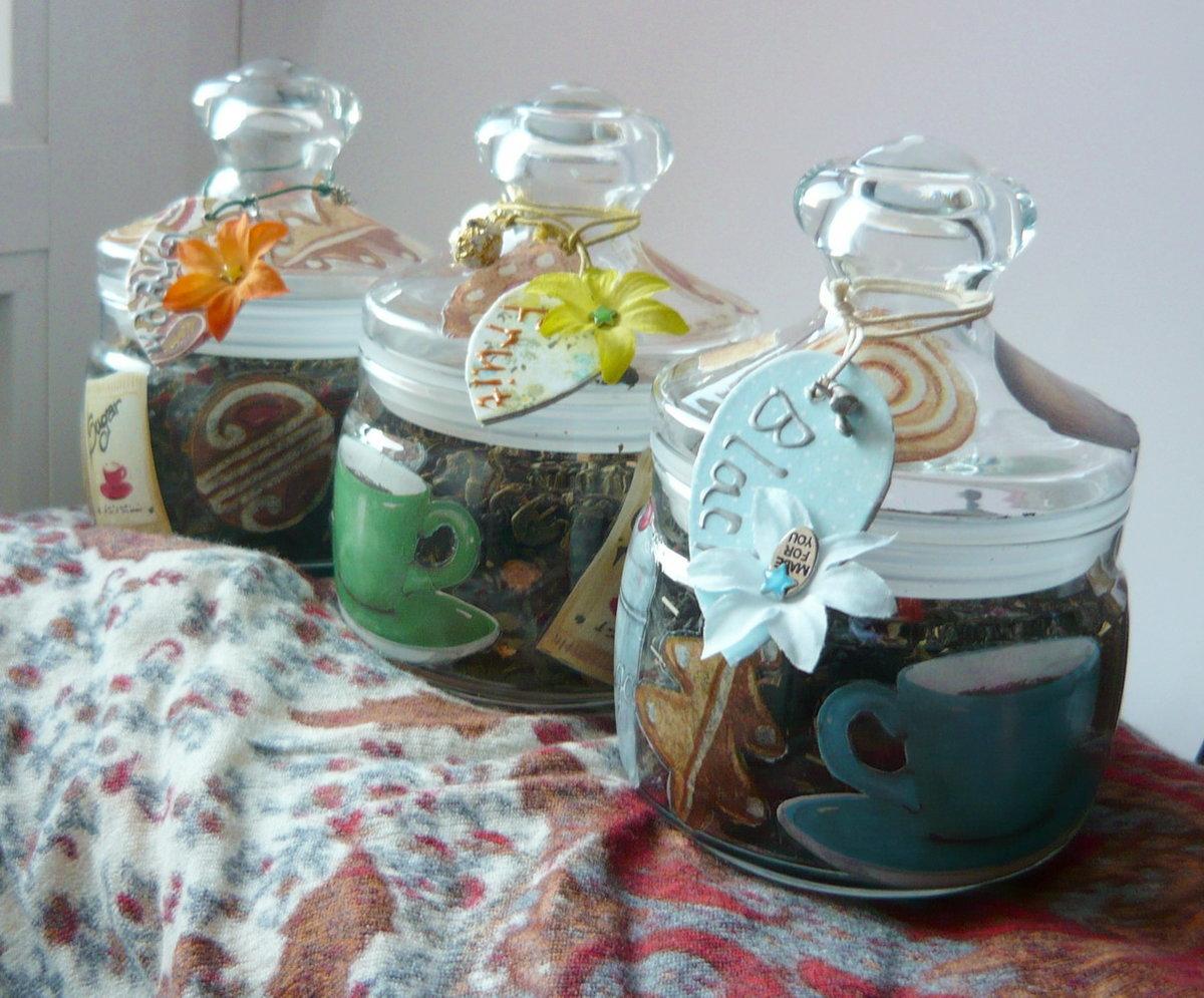 Красивые баночки для чая своими руками