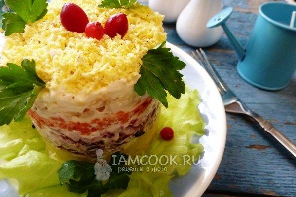 Салат мимоза классический рецепт с со шпротами