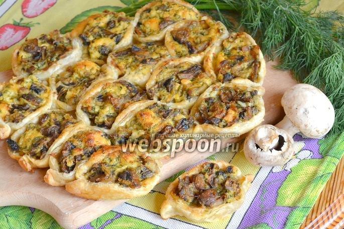 простой пирог с грибами рецепт с фото