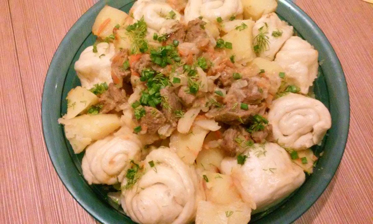 Рецепт штрудли мясом с пошагово