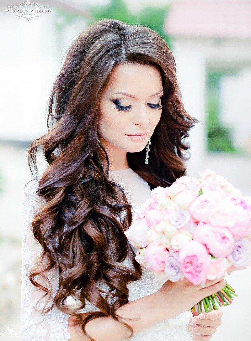 Свадебная прически с локонами