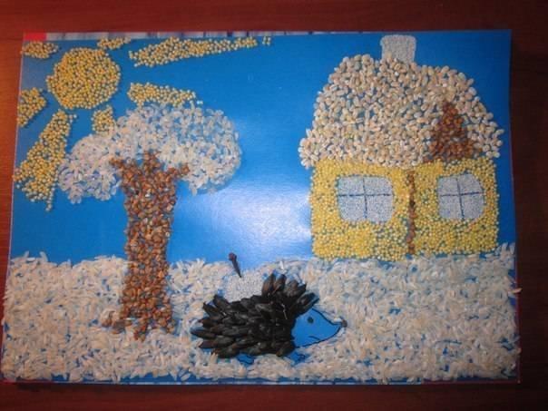 Картина поделка в детский сад