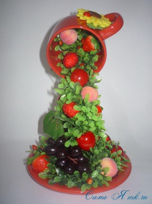 Яркая фруктово-ягодная парящая чашечка станет прекрасным украшением Вашего интерьера и замечательным сувенирным подарком на любо