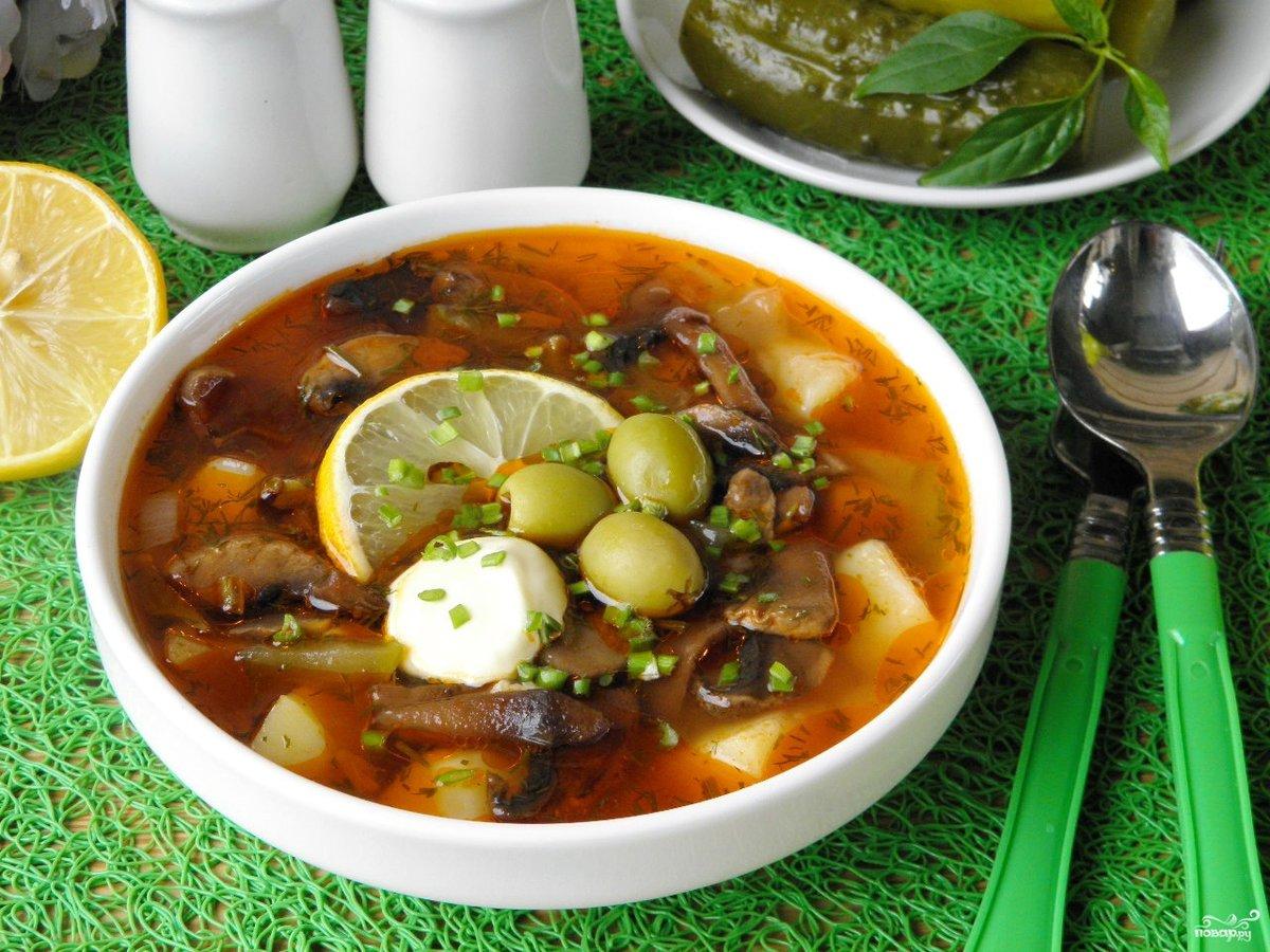 Солянка по-грузински классический рецепт пошагово