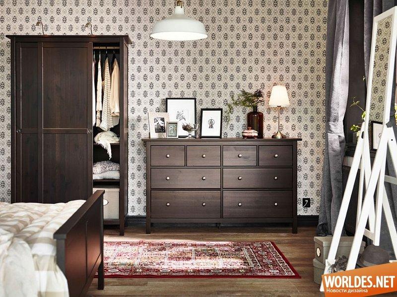 Интерьер спальни с комодом фото