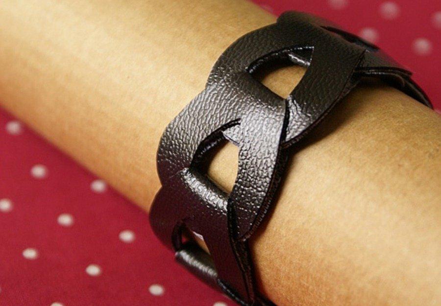 Браслеты кожаные женские своими руками 24