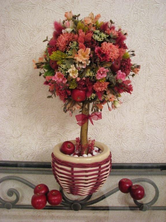 Топиарий с сухоцветами