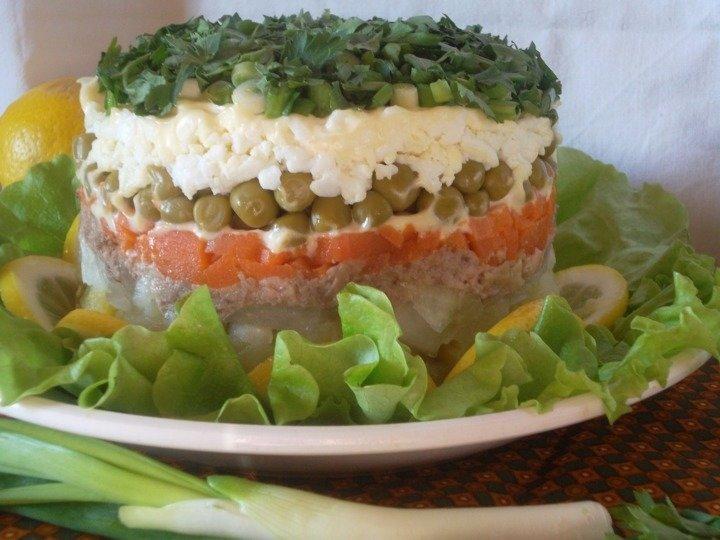 Печень трески салат с яйцом рецепт с