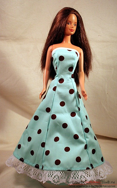 Как мне сшить платье на куклу своими руками 625