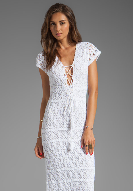 Фото длинного белого платья крючком