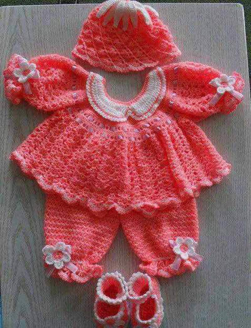 Вязание для новорожденных костюмчик для девочки 9