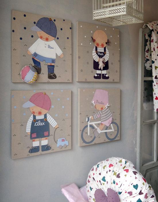Идеи картин в детскую комнату своими руками 87