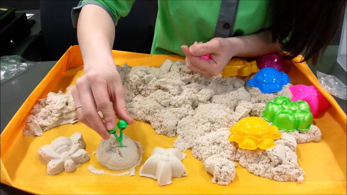 Кинетический песок что своими руками 812