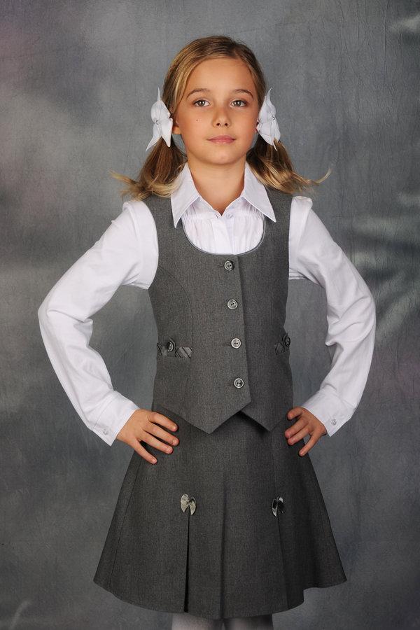 Жилетка школьная для девочки сшить
