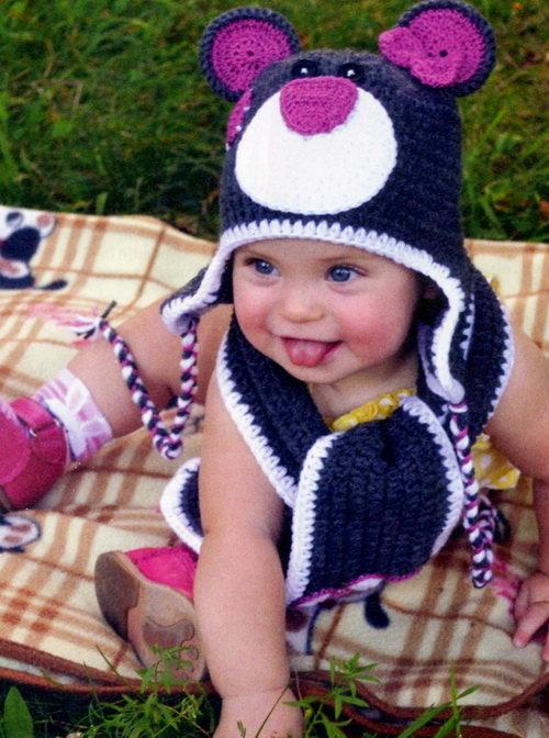 Фото вязанные шапки детям