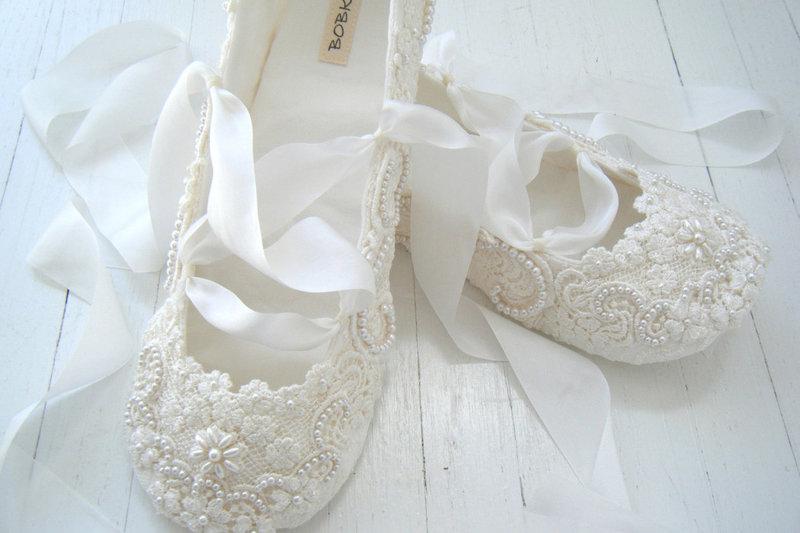 Свадебные балетки под платье