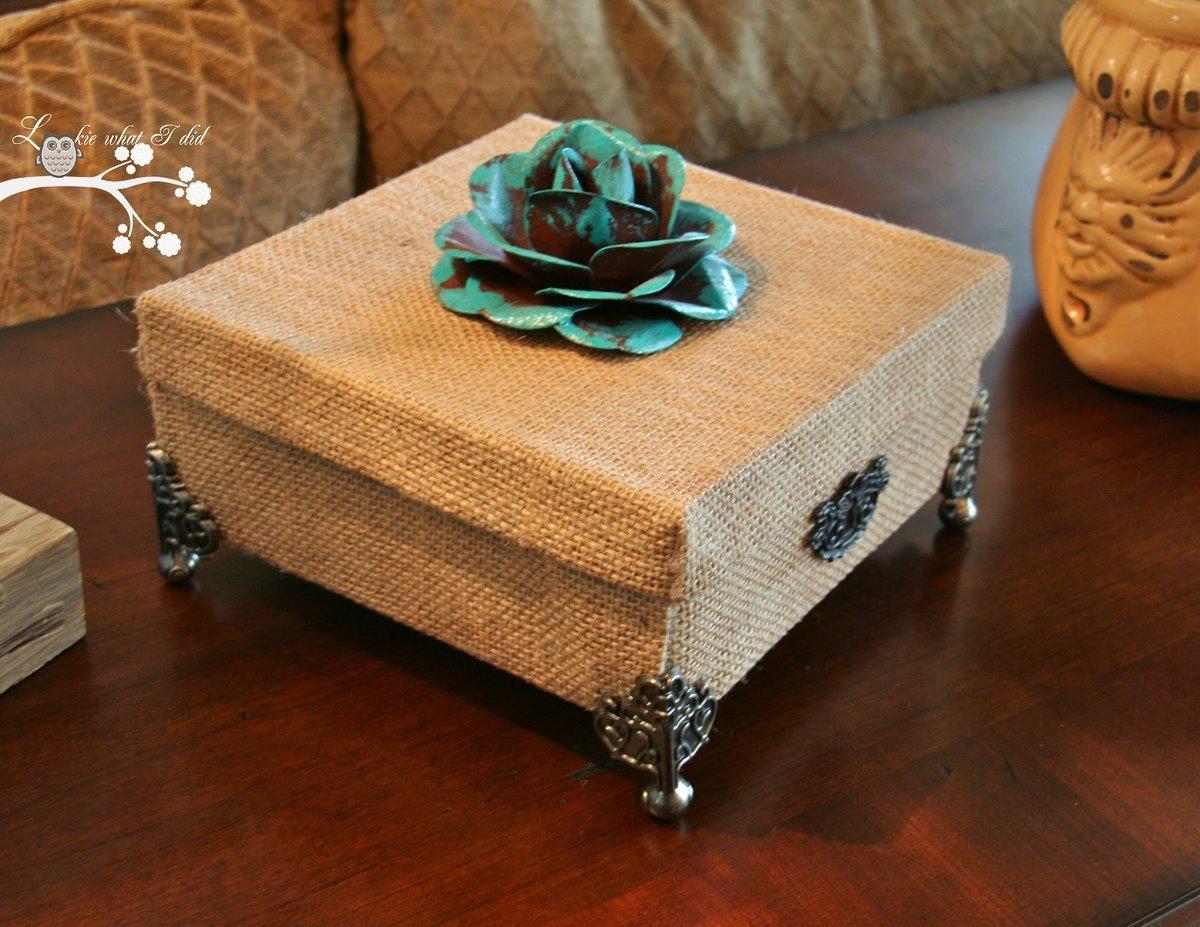 Декоративная коробка своими руками 963