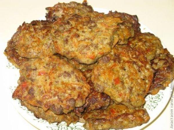Печеночные котлеты из говяжьей печени пошаговый рецепт с