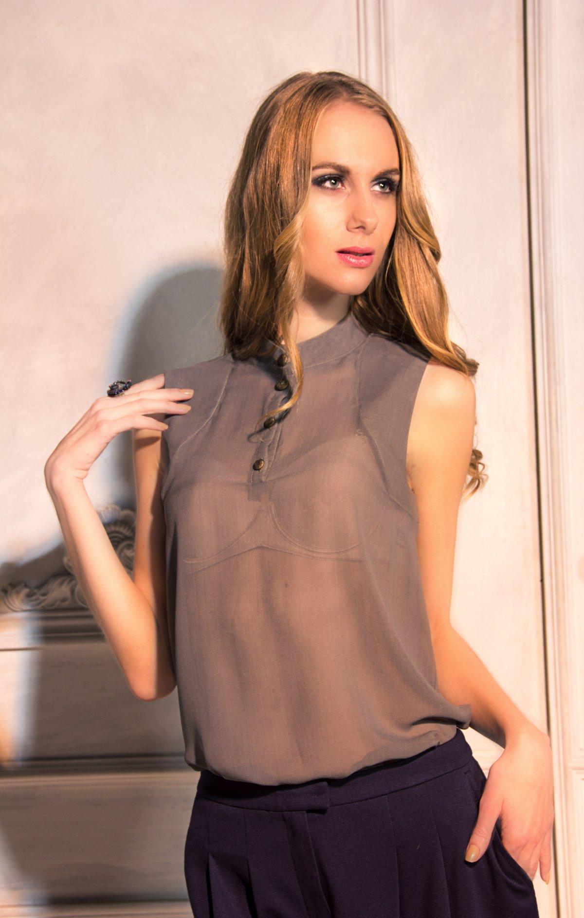 Как сшить из тонкой ткани блузку 521