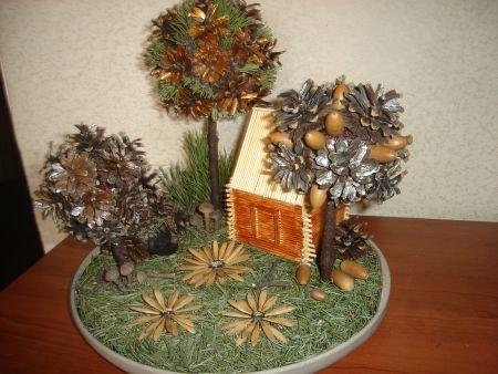 Поделки своими руками деревья из природного материала