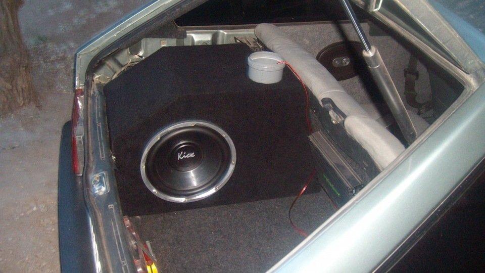 Как сделать из багажника сабвуфер 621