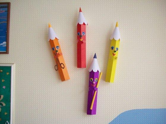 Как сделать карандаш из картона схема