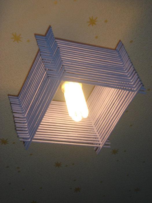Своими руками потолочный светильник мастер класс
