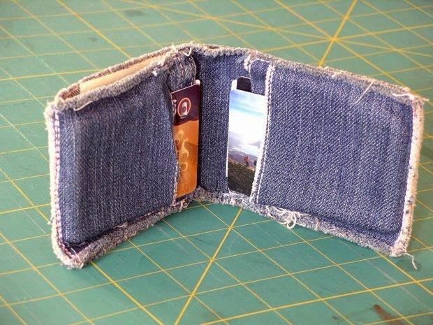 Сшить кошелек своими руками из джинс 407