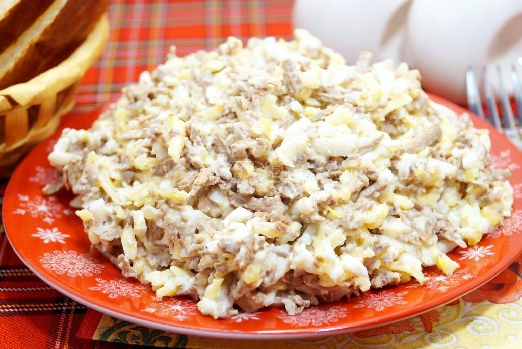 130Салат из печени говяжьей рецепт очень вкусный пошаговый