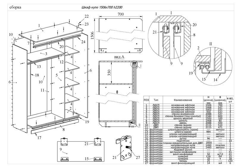 Сборка шкафа купе версаль инструкция