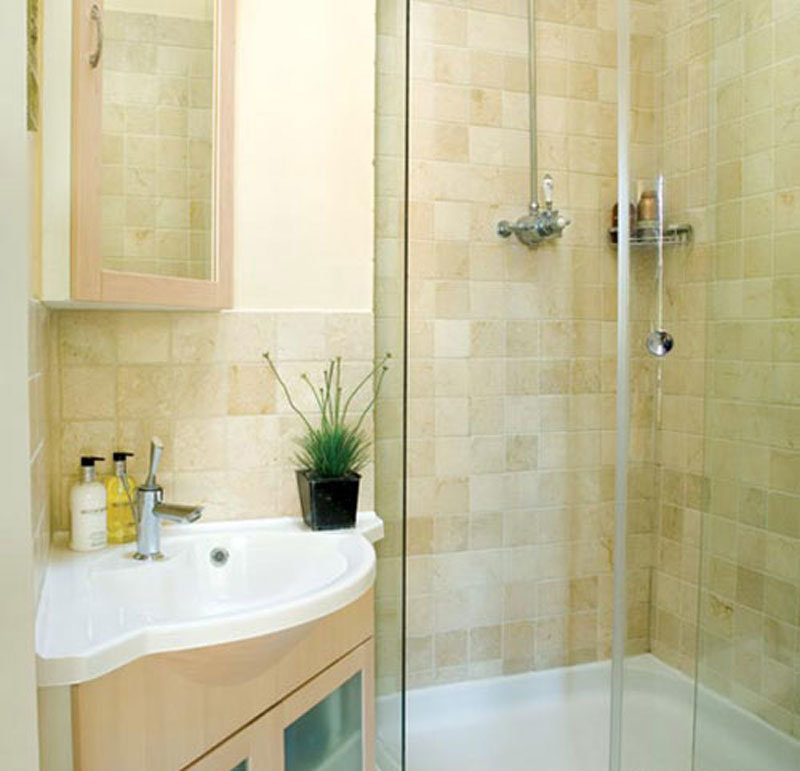 Маленькая ванная с душевой кабиной дизайн