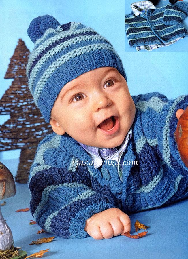 Вязание шапок для детей от 1 до 3 лет 473
