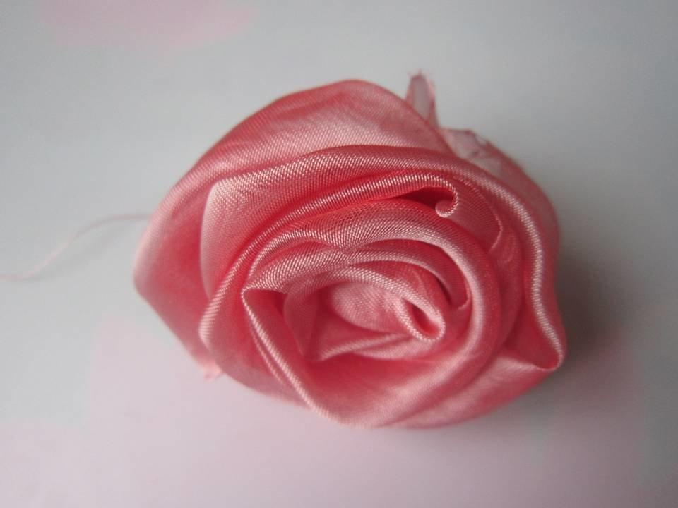 Розы из ткани свои руки 1057