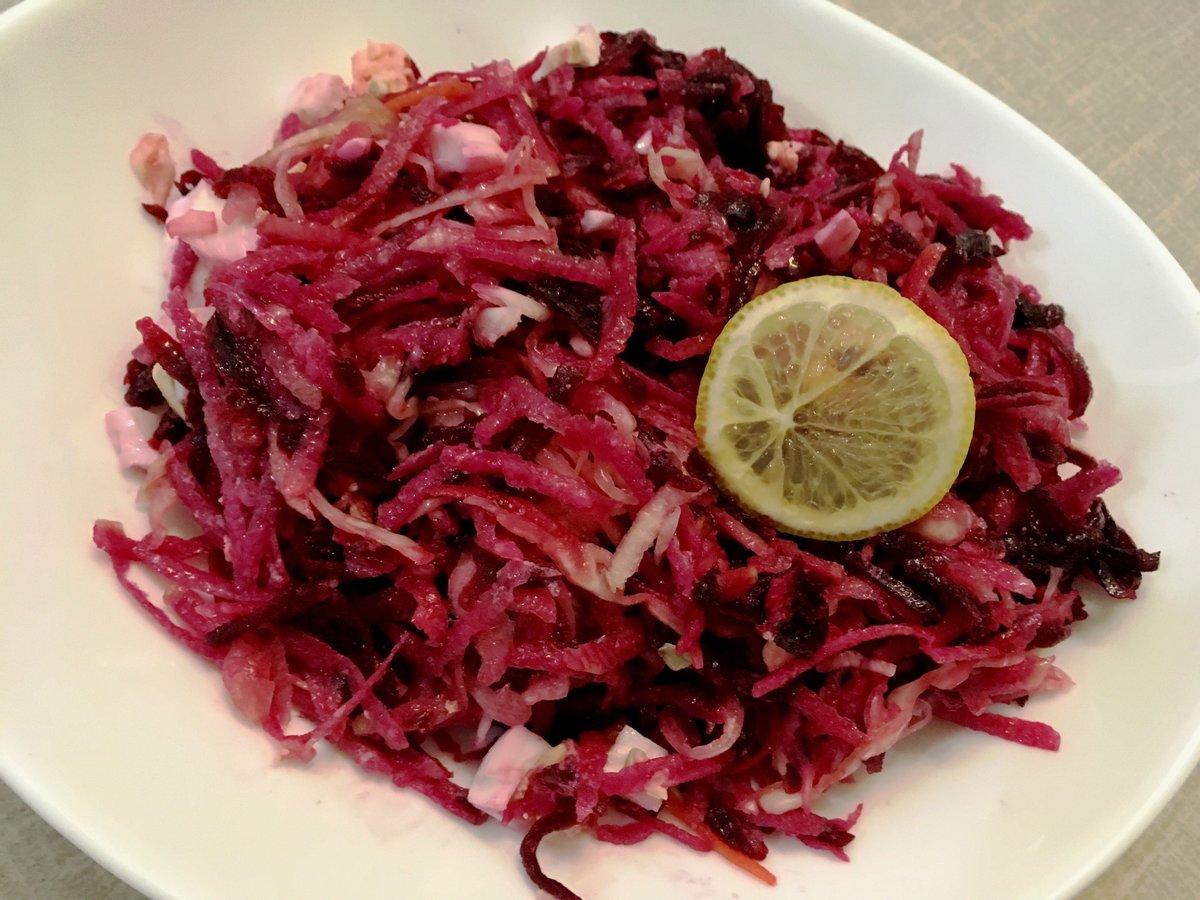 Салат из свеклы без майонеза рецепт с