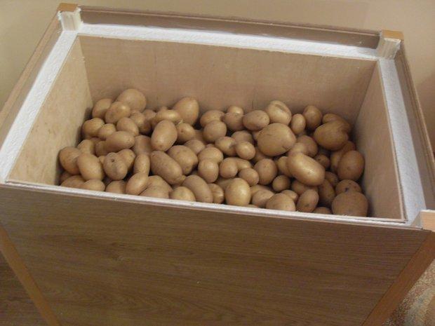 Как правильно сделать ящик для картошки