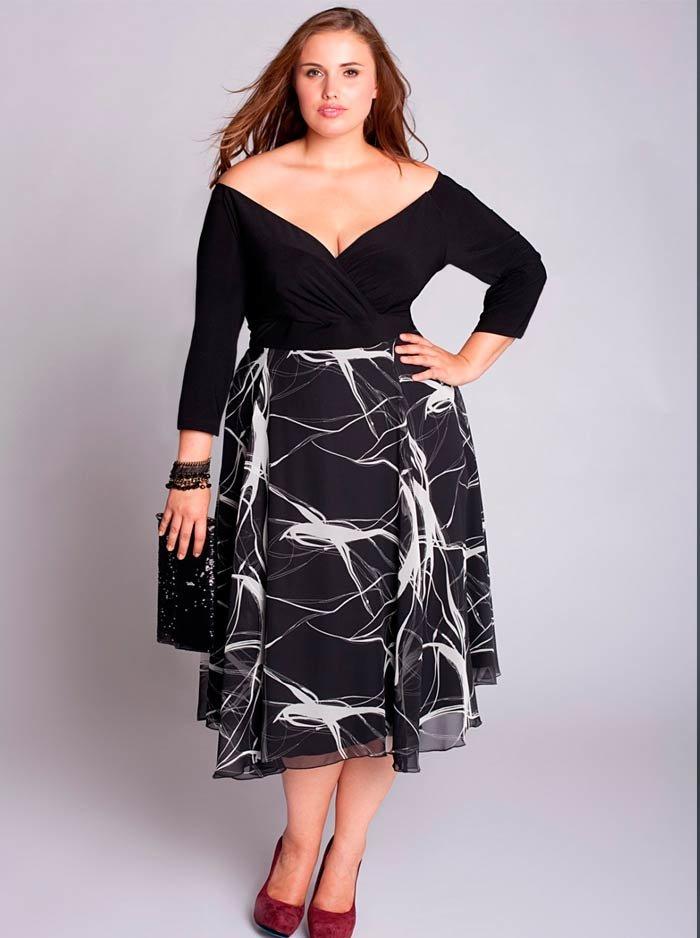 Платье для полных женщин миди