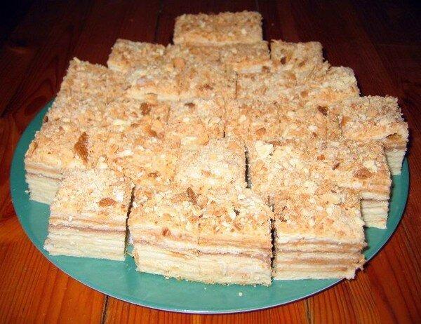 Торт наполеон со сметаной рецепт пошаговый