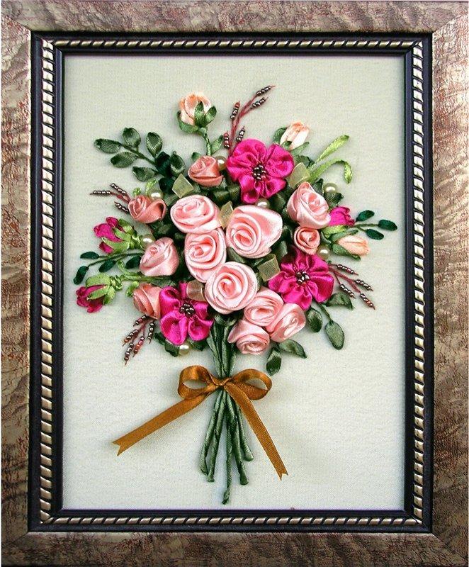 Вышивка лентами картинки цветы 54