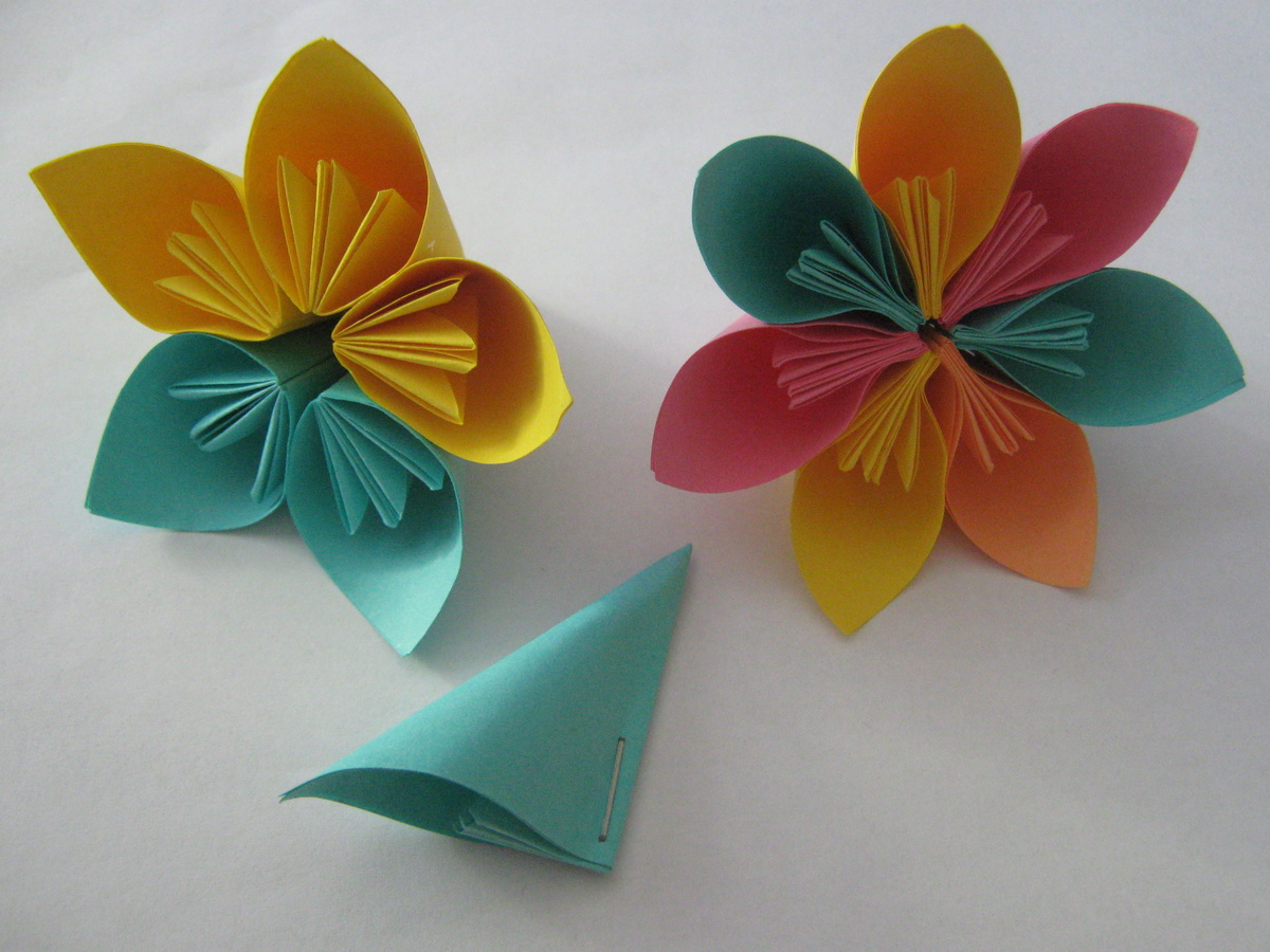 Поделки из бумаги виде цветка