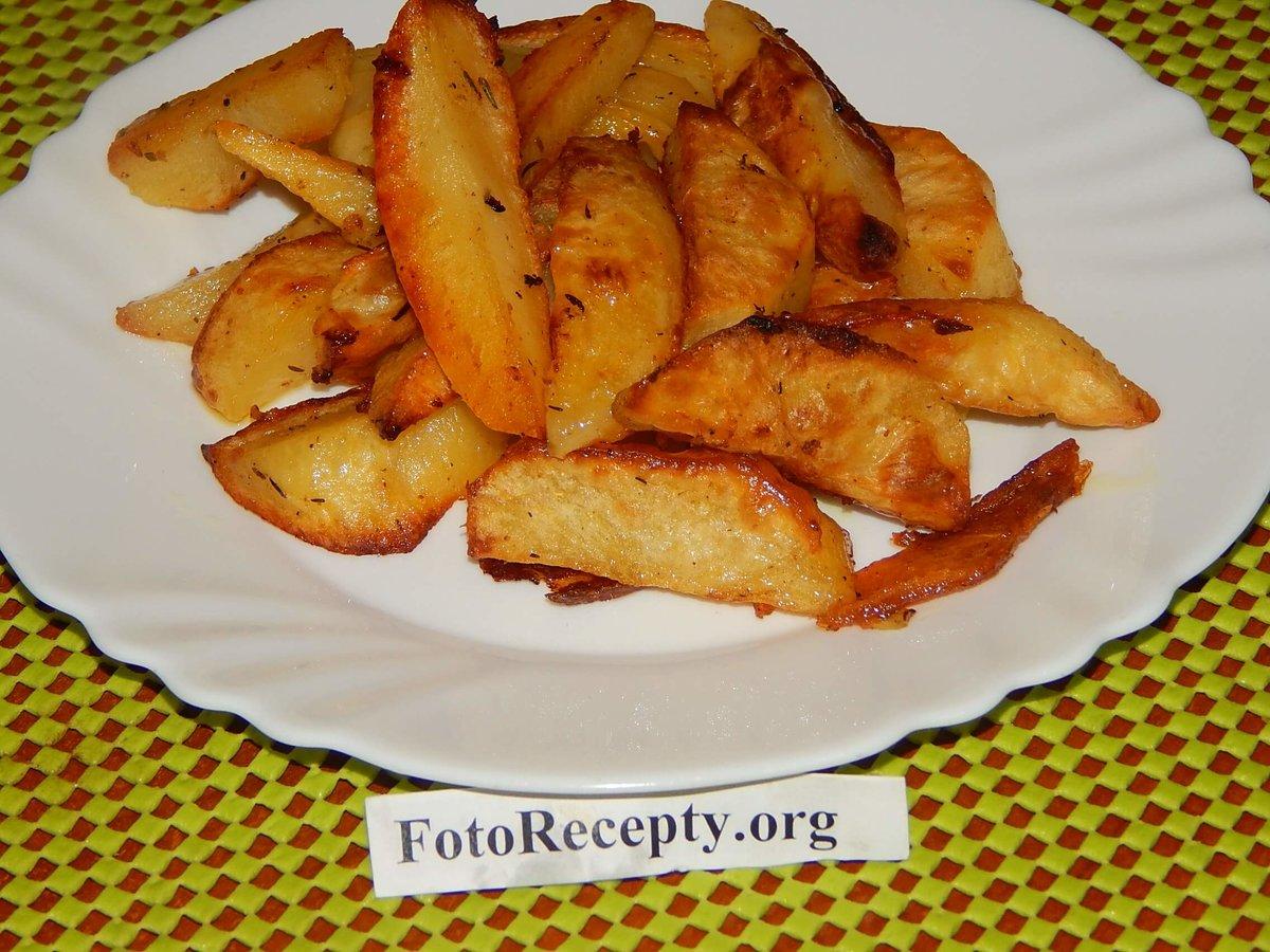 Картошка брусочками в духовке рецепт пошагово