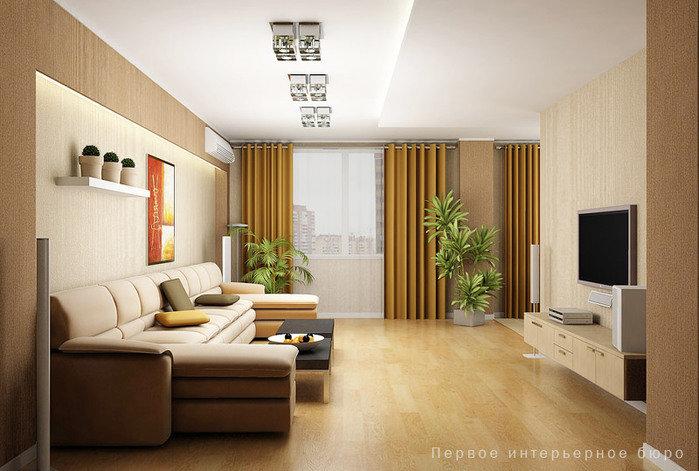 Дизайн 3 комнаты квартиры